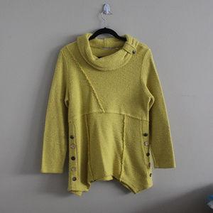 Soft Surroundings Yellow Turtleneck Sweater